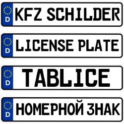 Autoschilder | KFZ Kennzeichen