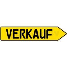 SCHILD PFEIL VERKAUF, Gelb, Rechts