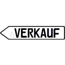 SCHILD PFEIL VERKAUF, Weis, Links