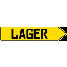 SCHILD PFEIL LAGER, Gelb, Rechts