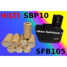 Akkupack 9,6V für Hilti SBP10 SFB 105 Werkzeugakkus
