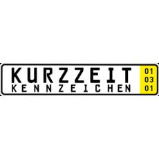 2 x Kurzzeit Autokennzeichen 520 x 110 mm