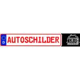 2 x Autokennzeichen 520 x 110 mm Schrift ROT