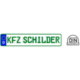 2 x Autokennzeichen 520 x 110 mm Schrift GRÜN