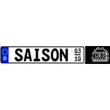 2 x Saison Autokennzeichen 520 x 110 mm