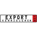 2 x Export/Ausfuhr Autokennzeichen 520 x 110 mm