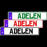 Fun-Schild mit dem Namen ADELEN