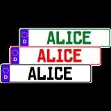 Fun-Schild mit dem Namen ALICE