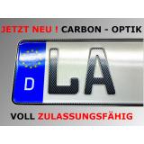 2 x Saison Autokennzeichen 520 x 110 mm in CARBON - OPTIK